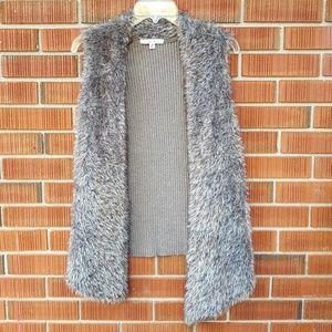 CAbi Mohair, Alpaca & Fabric Blend Faux Fur Vest